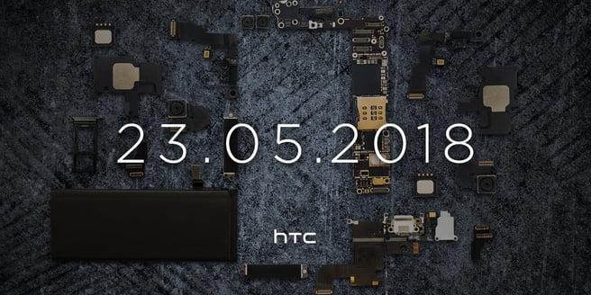 """HTC heeft een teaser online gezet met hierin de datum 23-05-2018. Op de teaser is verder weinig te zien behalve onderdelen die vermoedelijk gebruikt worden in de nieuwe smartphone die HTC wil onthullen. Onder de bewuste teaser wordt ook nog de opmerking """"Coming soon, een telefoon die meer is dan de som van zijn specs."""" gemaakt."""