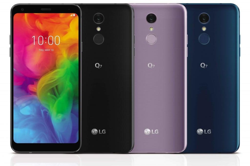 Vandaag heeft LG een drietal nieuwe smartphones geïntroduceerd die in de nieuwe Q7-serie vallen. Ten opzichte van de Q6 krijgen de Q7-telefoons een waterdichte behuizing, vingerafdrukscanner op de achterkant en betere audiohardware. Hiermee zijn de Q7-smartphones een stukje uitgebreider.