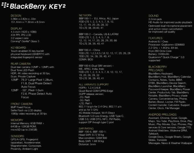 Een dag voor de officiele introductie zijn de specificaties van de nieuwe KEY2 al op straat komen te liggen. Via een bekende tipper zijn de specificaties via Twitter gelekt. Recentelijk had deze zelfde tipper al een dag voor lancering de specificaties van de HTC U12+ in handen weten te krijgen. In veel gevallen zit de lekker bij het rechte eind en kunnen wij dus deze bron als betrouwbaar beschouwen.