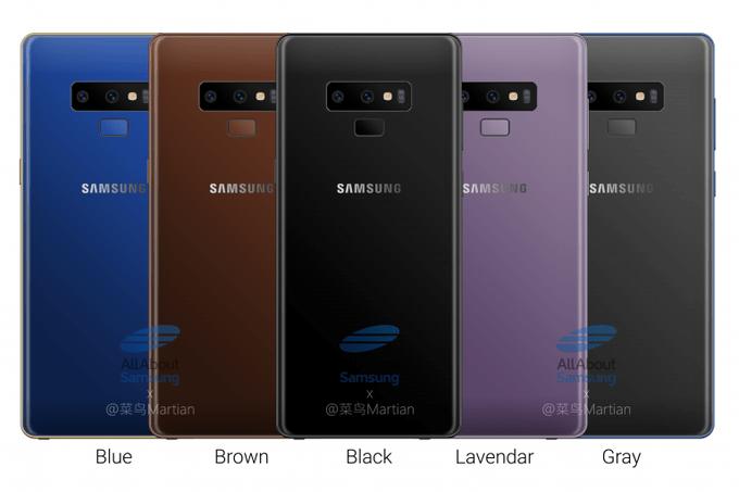 De geruchten rondom de nieuwe Galaxy Note 9 zijn al aardig op stoom. Volgens de laatste berichten komt het nieuwe vlaggenschip beschikbaar in vijf verschillende kleuren. Vandaag werd ook al bevestigd dat de Galaxy Note 9 definitief wordt uitgerust met een zwaardere 4000 mAh accu. Hier hebben wij recentelijk ook al over bericht.