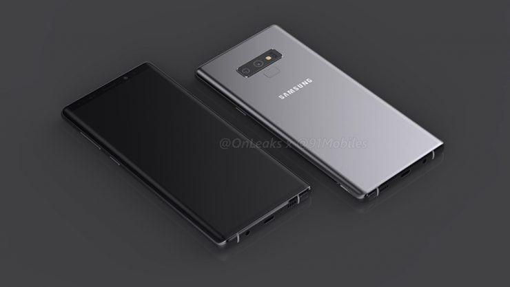 Op het internet zijn renders opgedoken van mogelijk het nieuwe ontwerp van de Galaxy Note 9. Het nieuwe vlaggenschip wordt mogelijk in augustus gepresenteerd. Recentelijk werd duidelijk dat de CEO van Samsung de ontwikkelafdeling had verzocht om last-minute nog wat wijzigingen aan te brengen in het ontwerp.