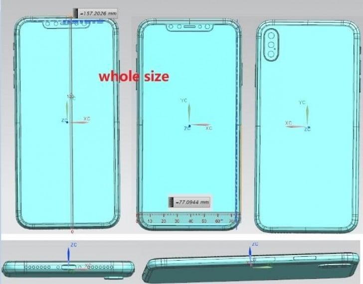 Al eerder hebben wij renders gezien van de nieuwe opkomende iPhone's. Nu zijn er ook schematekeningen gespot die wat meer detail tonen inclusief afmetingen. Op de tekeningen zijn ook de posities van knoppen en camera's duidelijk te zien.