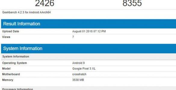 In een benchmark is de Google Pixel 3 XL gespot. Alhoewel het nog even duurt alvorens dit model werkelijk gelanceerd zal worden is er nu wel een goed beeld hoe de Pixel 3 XL presteert.