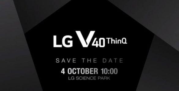 Vandaag heeft LG een uitnodiging de deur uit gedaan voor de lancering van de V40 ThinQ. met deze datum wordt de maand oktober wederom een interessante maand met lancering van smartphones van de V40 ThinQ, de nieuwe smartphones van Google en Huawei. Voor de maand oktober trapt LG de lancering af met de nieuwe V40 ThinQ.