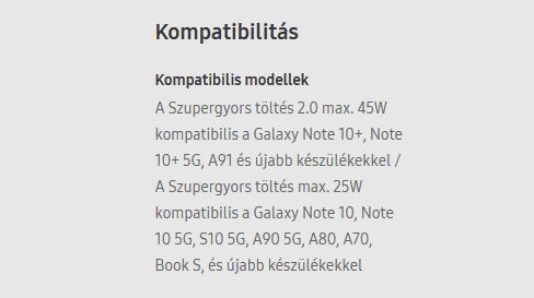 Snellader 45W is ook compatibel met de Galaxy A91