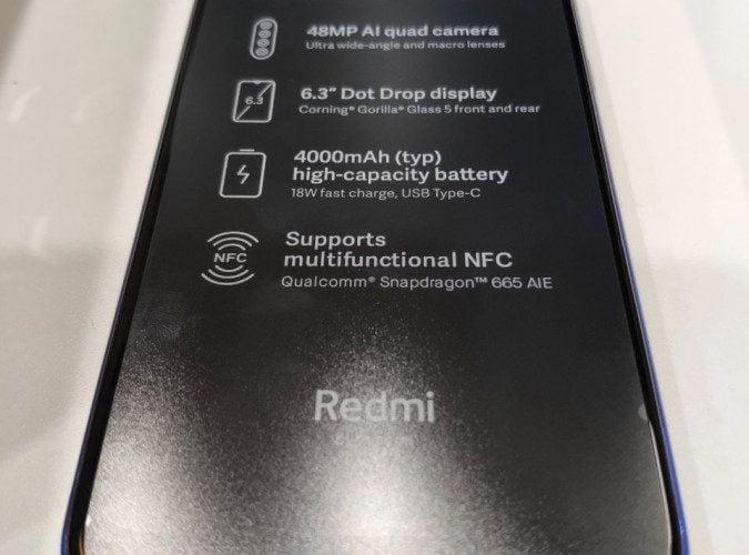 De aankomende Redmi Note 8T zal de NFC-chip ondersteunen.