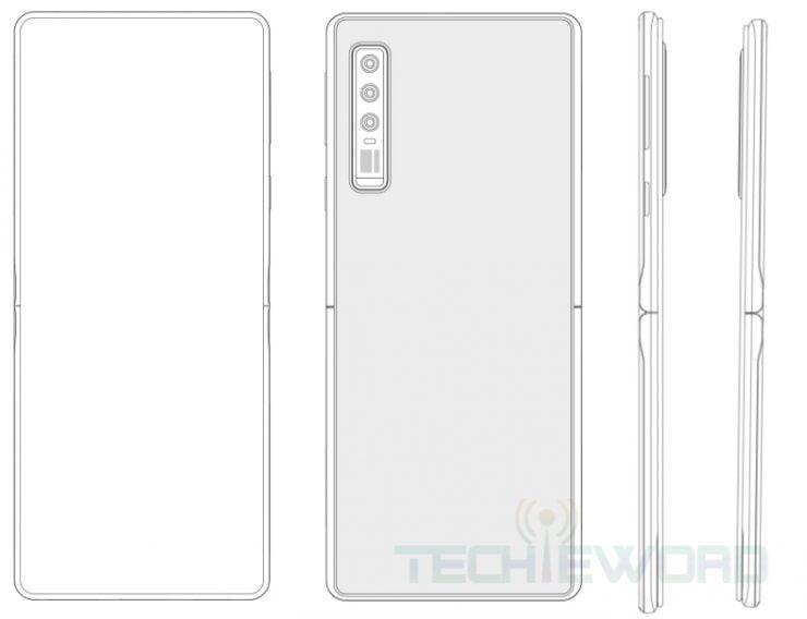 Een verticaal opvouwbare smartphone vanuit Huawei nu mogelijk op komst.