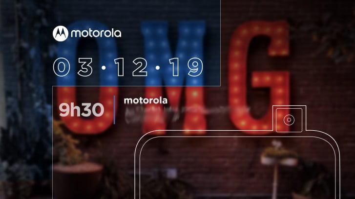 De Motorola One Hyper wordt op 3 december gelanceerd.