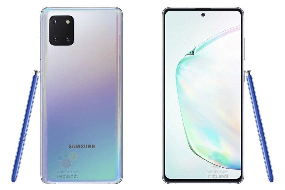 De Samsung Galaxy Note 10 Lite laat zich voor het eerst in renders zien.