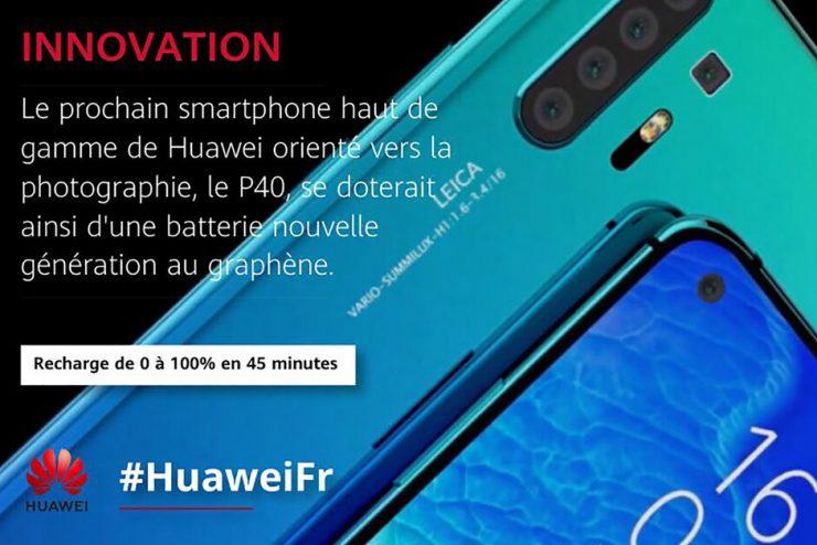 Geen accu op basis van grafeen voor de Huawei P40.