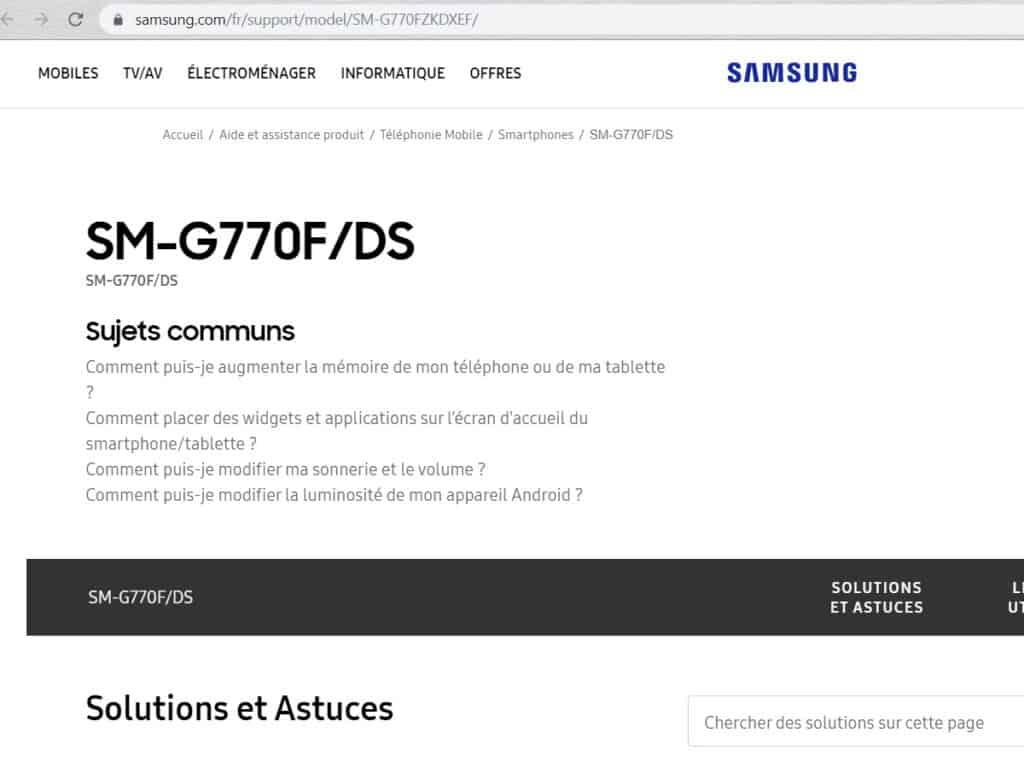 Er is een supportpagina opgedoken voor de aankomende Galaxy S10 Lite.