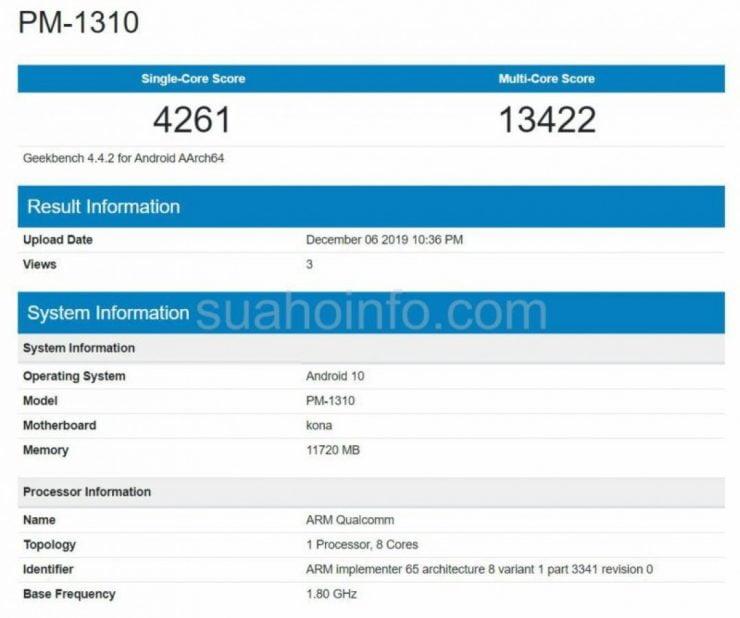 De aankomende Xperia 3 is gezien in een databank.