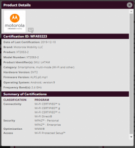 Wat is de Motorola XT2053 nu voor een smartphone?