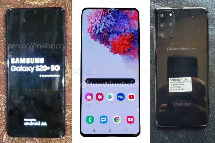 De Galaxy S20+ 5G is voor het eerst op beeld uitgelekt.