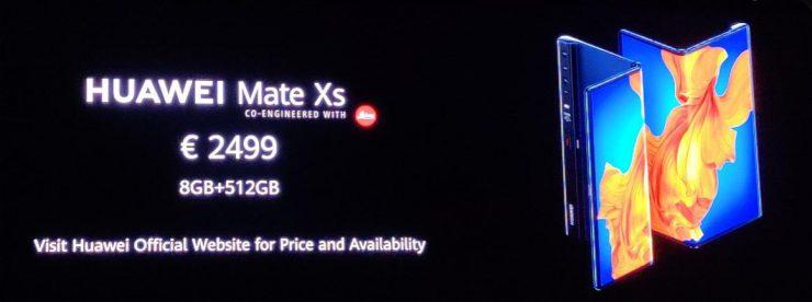 De Huawei Mate Xs is vandaag officieel gelanceerd, maar wel met een forse prijskaart.
