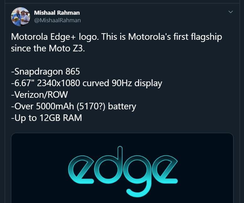 Vandaag zijn er meer specificaties gelekt over de aankomende Motorola Edge Plus.
