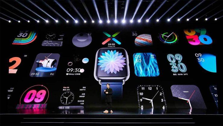Oppo kondigde vrijdag niet alleen de nieuwe Find X2 en X2 Pro aan, maar ook hun nieuwe smartwatch. De Oppo Watch is rechthoekig en heeft een AMOLED-scherm met gebogen randen. De wearable draait op het op Android gebaseerde ColorOS Watch.