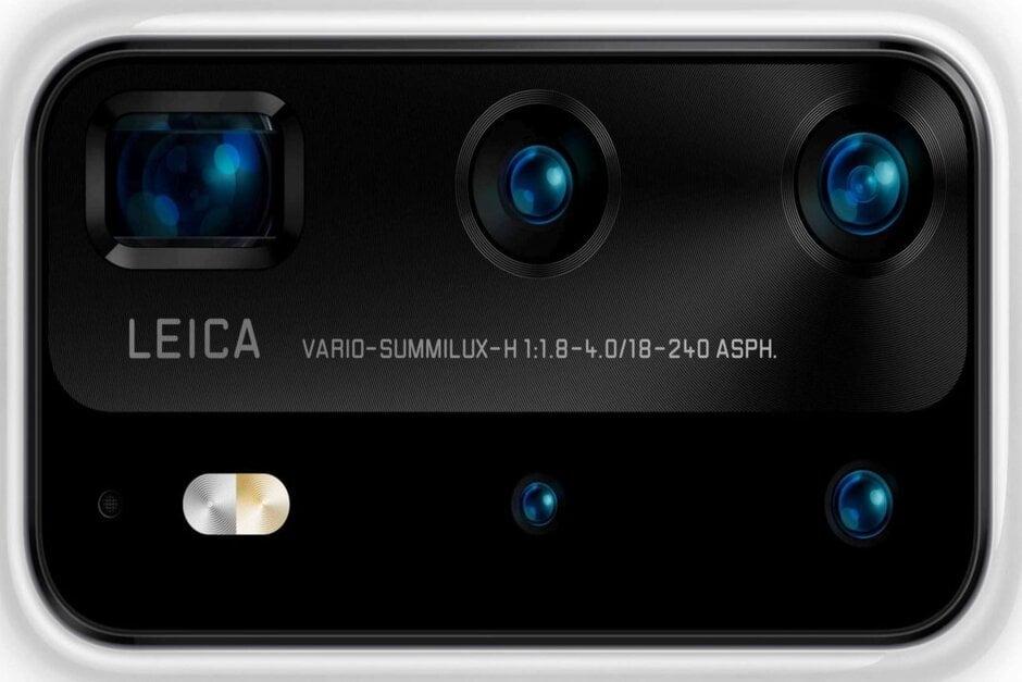 Indrukwekkende cijfers voor de cameramodule van de Huawei P40 Pro.