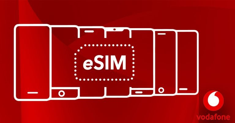 Per vandaag ondersteunt Vodafone ook e-SIM.