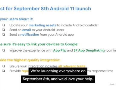 Op 8 september wordt naar alle waarschijnlijkheid Android 11 gelanceerd.