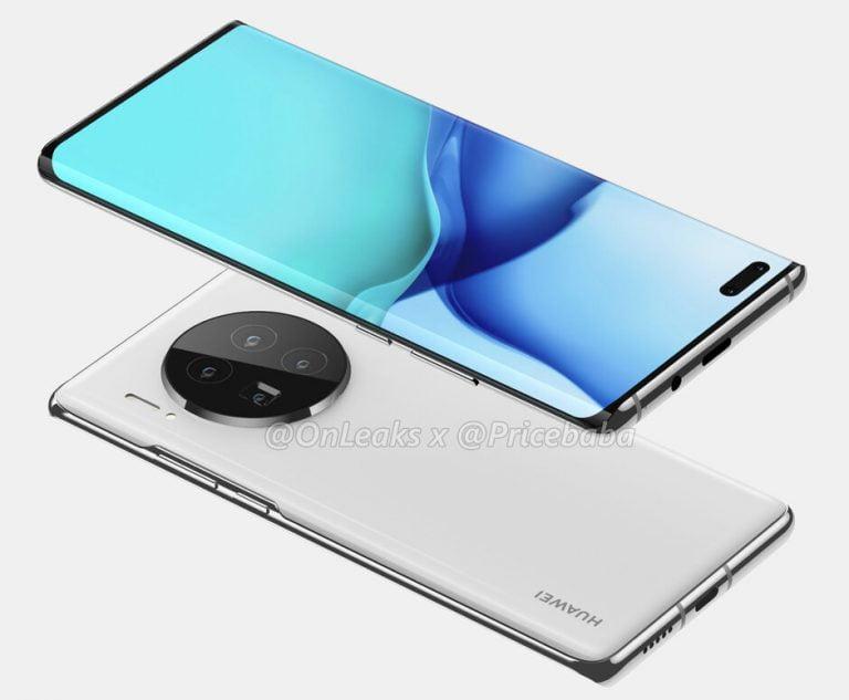 Voor het eerst komt de Huawei Mate 40 goed in beeld dankzij deze nieuwe renders.