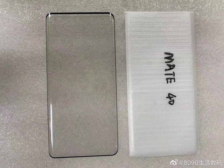 Een screenprotector voor de Huawei Mate 40 Pro geeft een beeld wat wij kunnen verwachten.