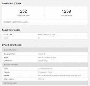 De aankomende Nokia 3.4 heeft zichzelf laten zien in een databank.