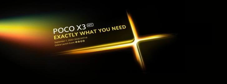 Op 7 september zal de Poco X3 worden gelanceerd.