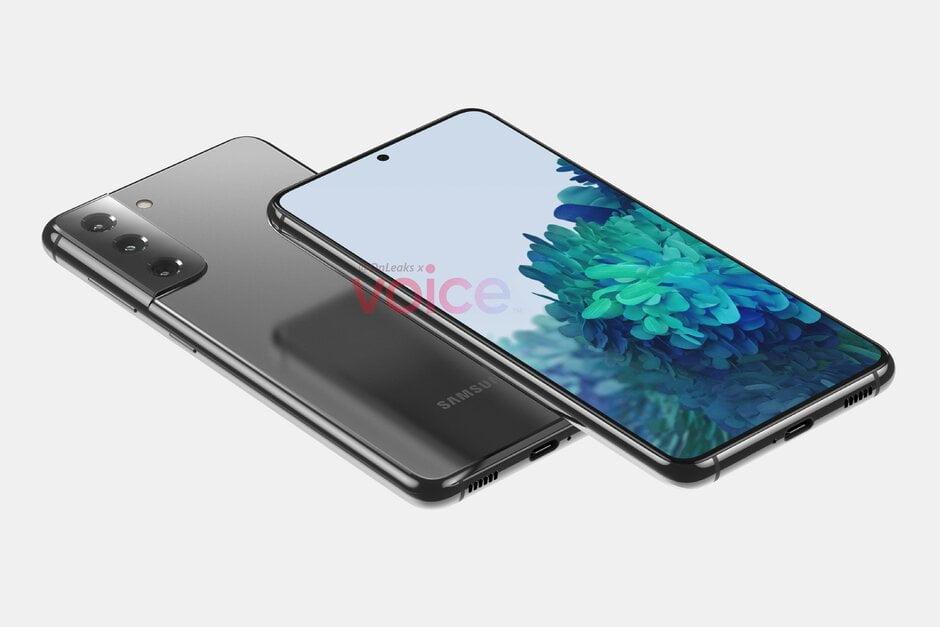 De eerste renders van de Samsung Galaxy S21 duiken op.