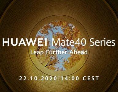 Het is eindelijk officieel. Huawei zal op 22 oktober de nieuwe Mate 40 lanceren. Na de lancering zal de smartphone in eerste instantie in China in de verkoop gaan. Over een wereldwijde verkoop is nog niets bekend, maar tijdens de lancering zal hier ongetwijfeld meer duidelijkheid in gaan komen.