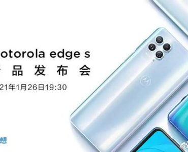 De Motorola Edge S laat zichzelf op een teaser zien.