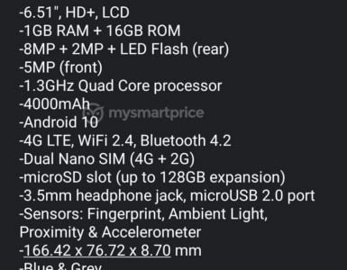 De eerste details voor de Nokia 1.4 zijn gelekt.