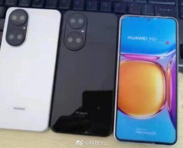 Huawei P50 laat zich in dummy's zien.