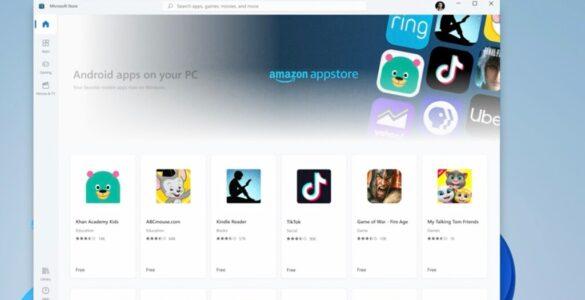 Android apps kunnen binnenkort ook op Windows 11 werken.
