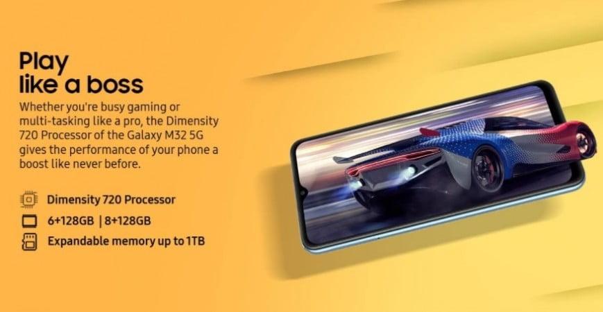 Samsung lanceert de Galaxy M32 5G.
