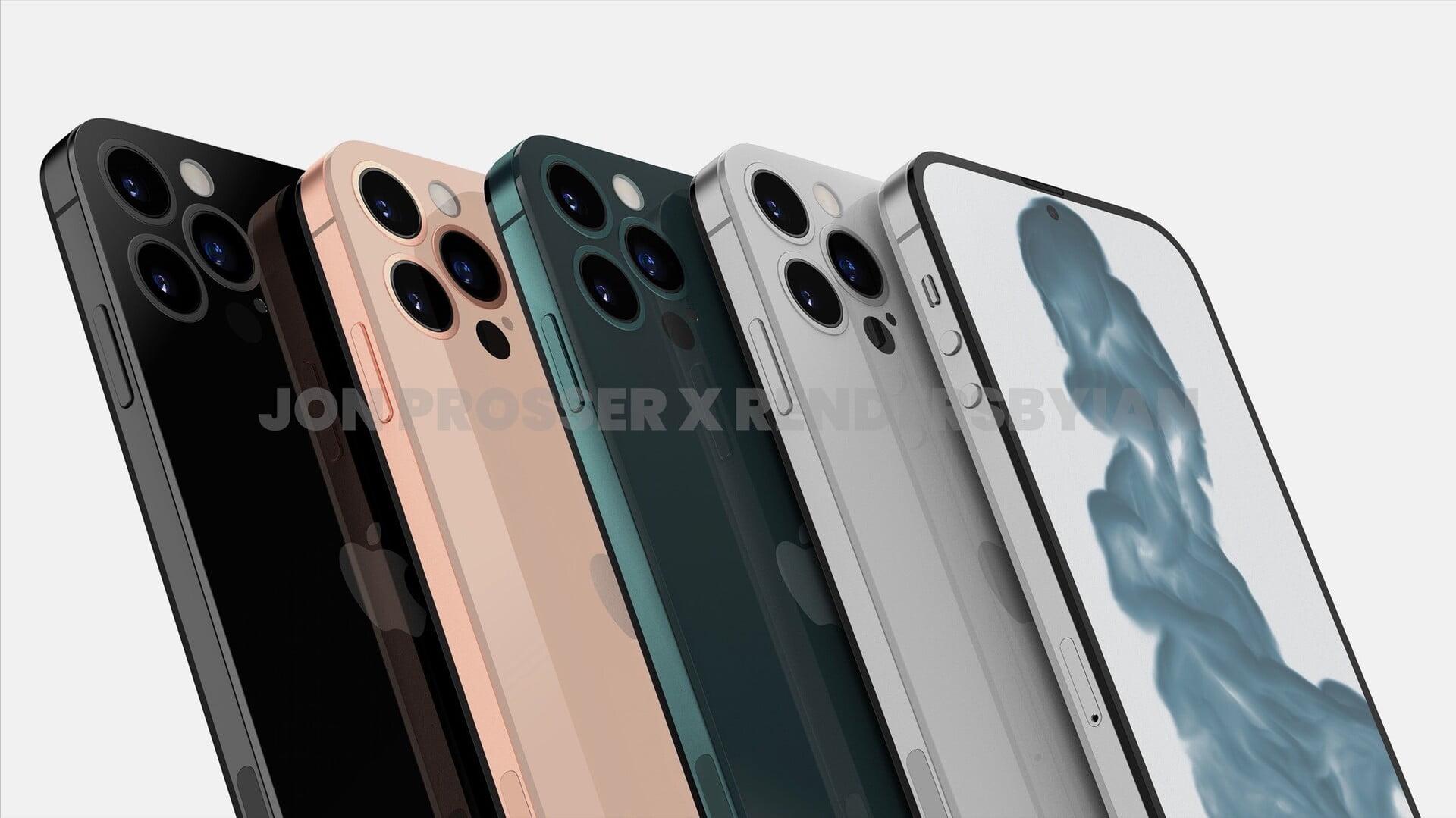 Apple iPhone 14 lekt nu al in renders uit.