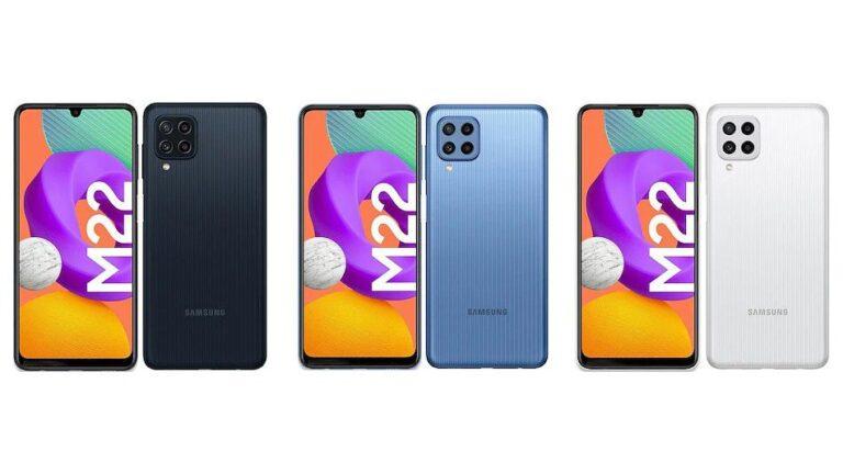 De Samsung Galaxy M22 zal mogelijk spoedig gelanceerd worden.