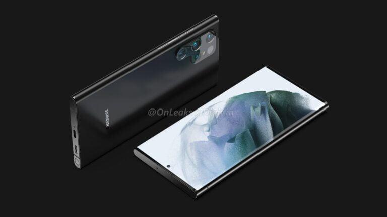 De eerste renders van de Galaxy S22 Ultra zijn op het internet gedeeld.
